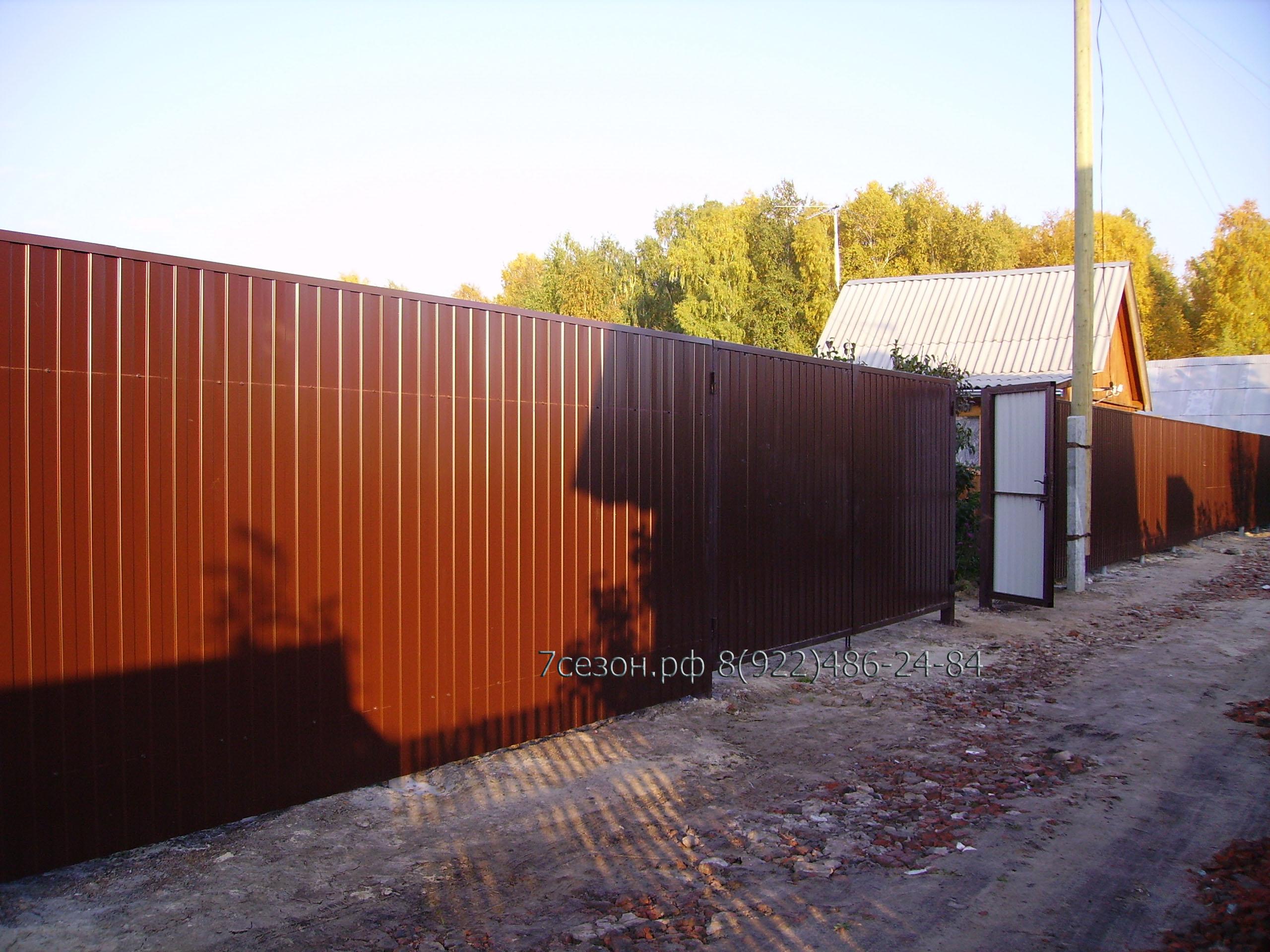 Ворота из профнастила своими руками как сделать распашные ворота из 79