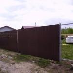 Забор из профнастила купить