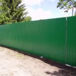 Забор из профнастила в тюмени цена