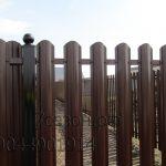 Забор из штакетника в 1ряд