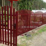 Забор штакетник- арка