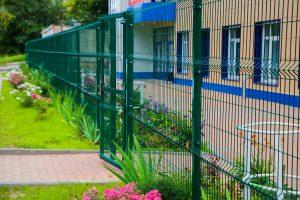 3д забор для школы, детского сада