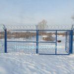 3д панельные ограждения- ворота